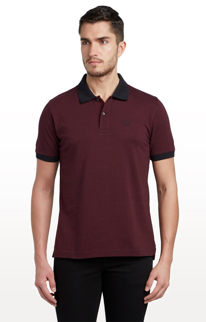 ColorPlus | Maroon Solid T-Shirt