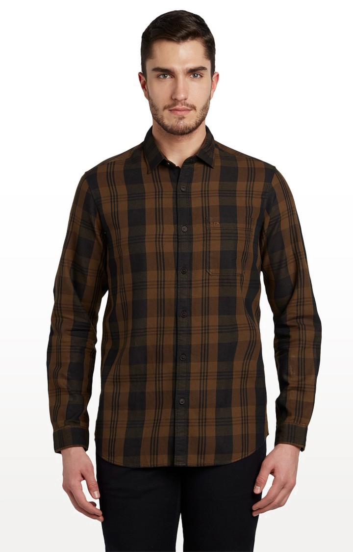 ColorPlus | ColorPlus Dark Brown Casual Shirt