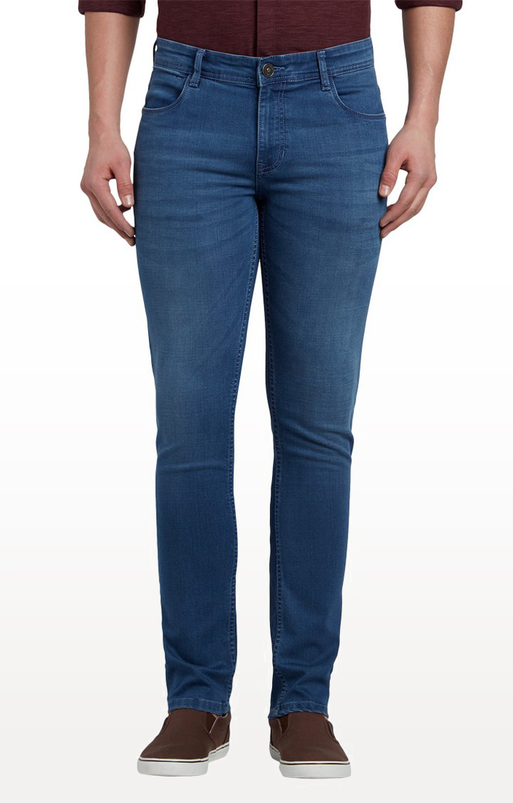 ColorPlus   Light blue Solid Straight Jeans