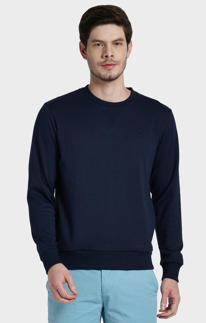 ColorPlus | Navy Solid Sweatshirt