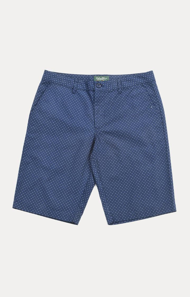 ColorPlus | Blue Printed Shorts
