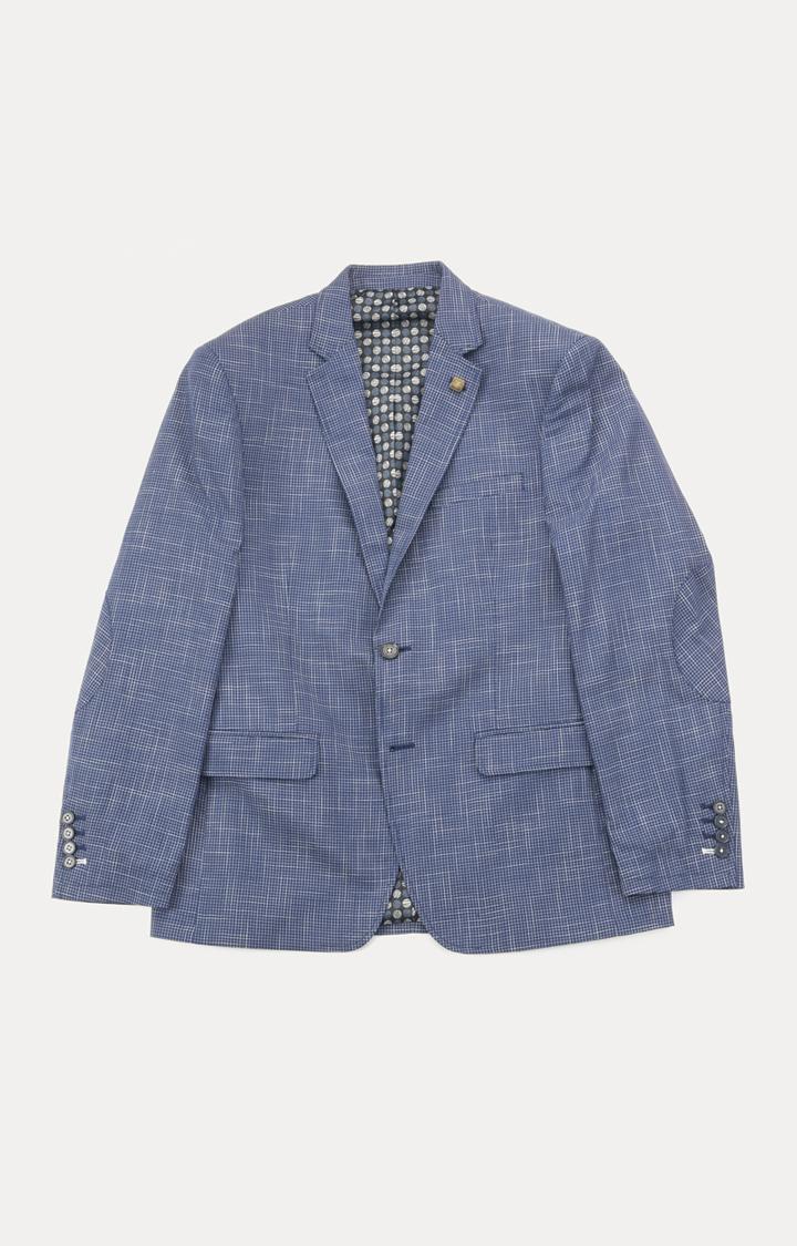ColorPlus | Dark Blue Checked Blazer