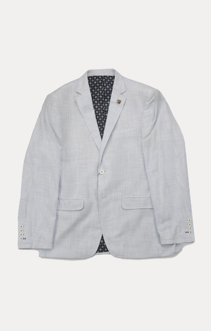 ColorPlus | White Checked Blazer