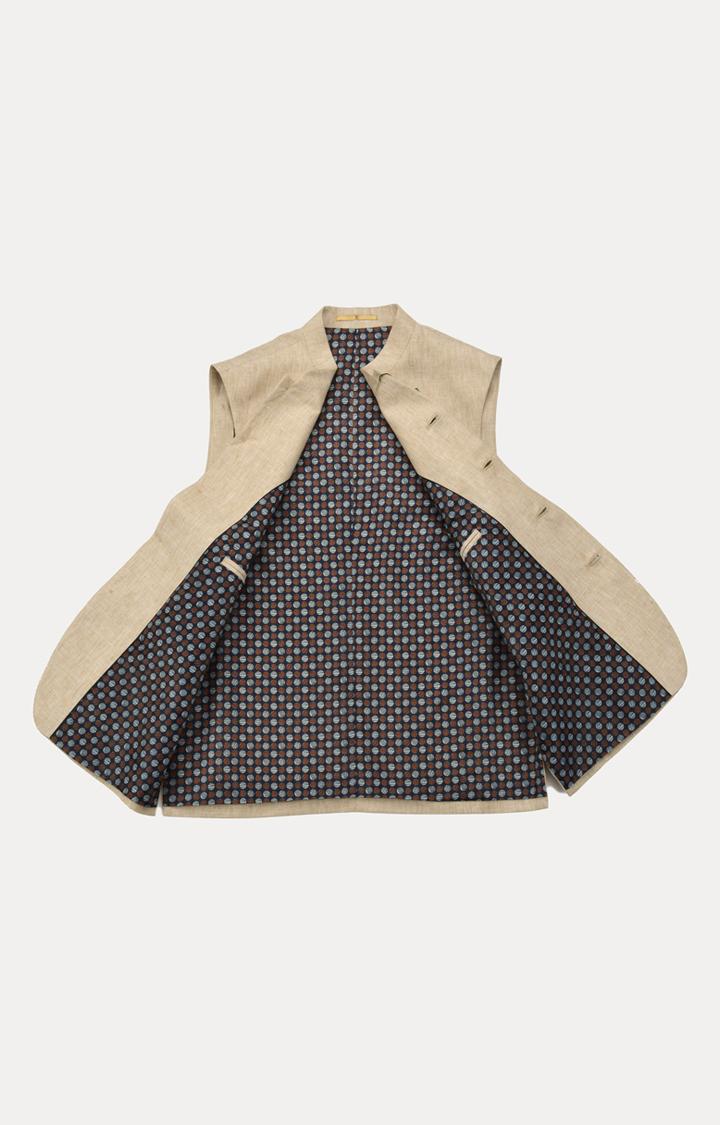 ColorPlus | Fawn Melange Ethnic Jacket