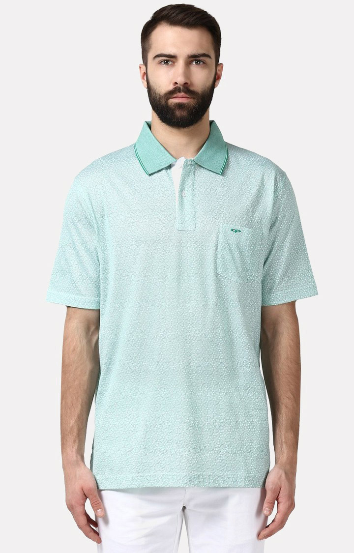 Light Green Melange Polo T-Shirt