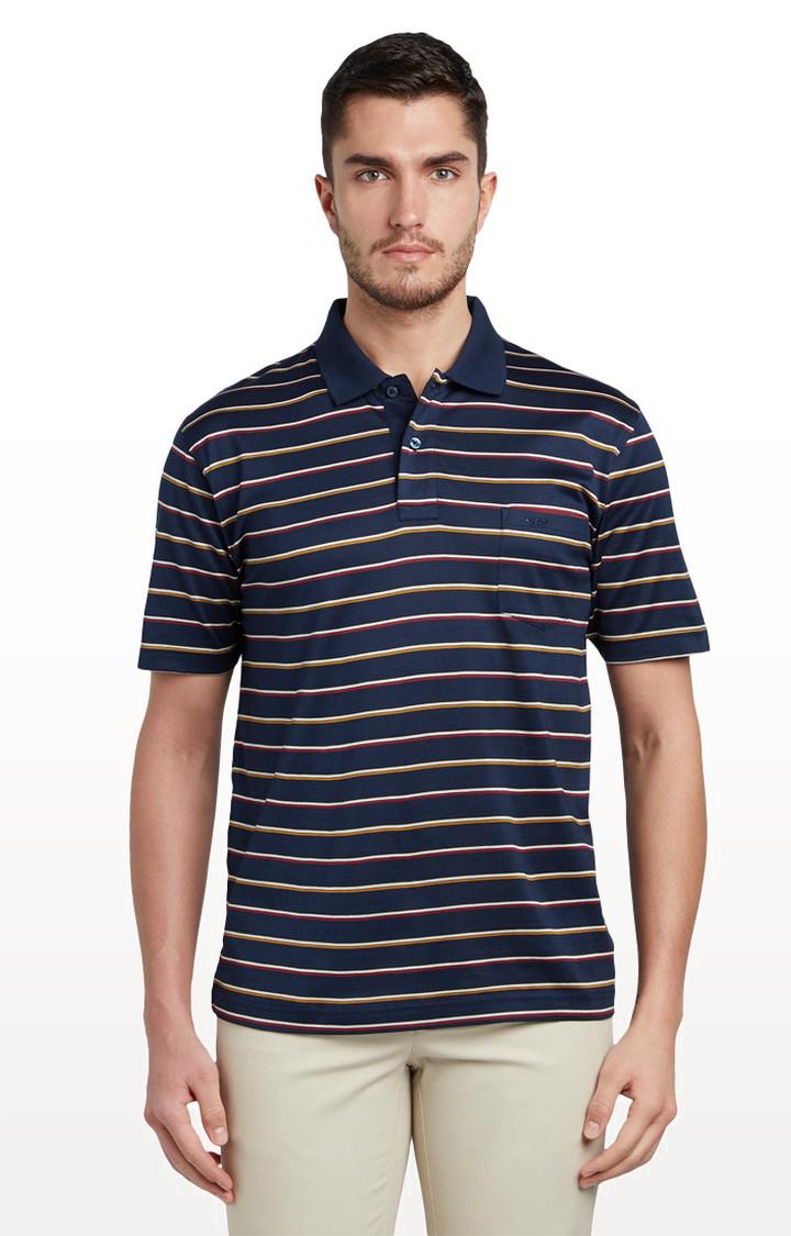 ColorPlus | Navy Striped T-Shirt