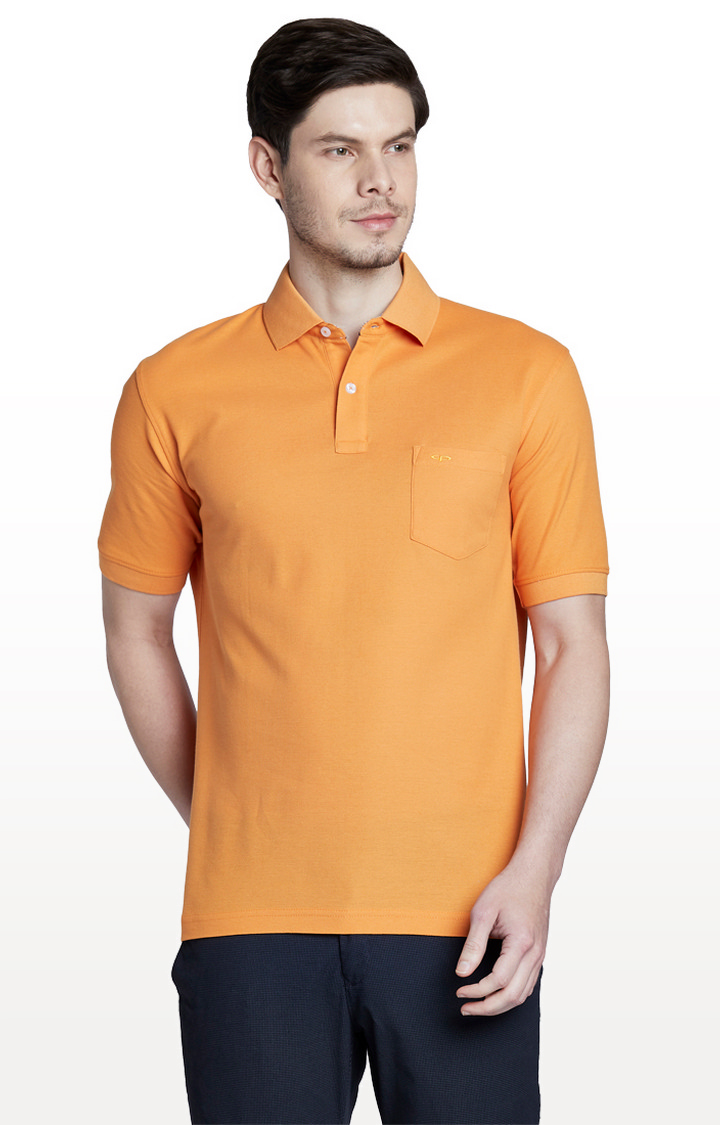 ColorPlus | Mustard Solid Classic Fit Polo T-Shirt