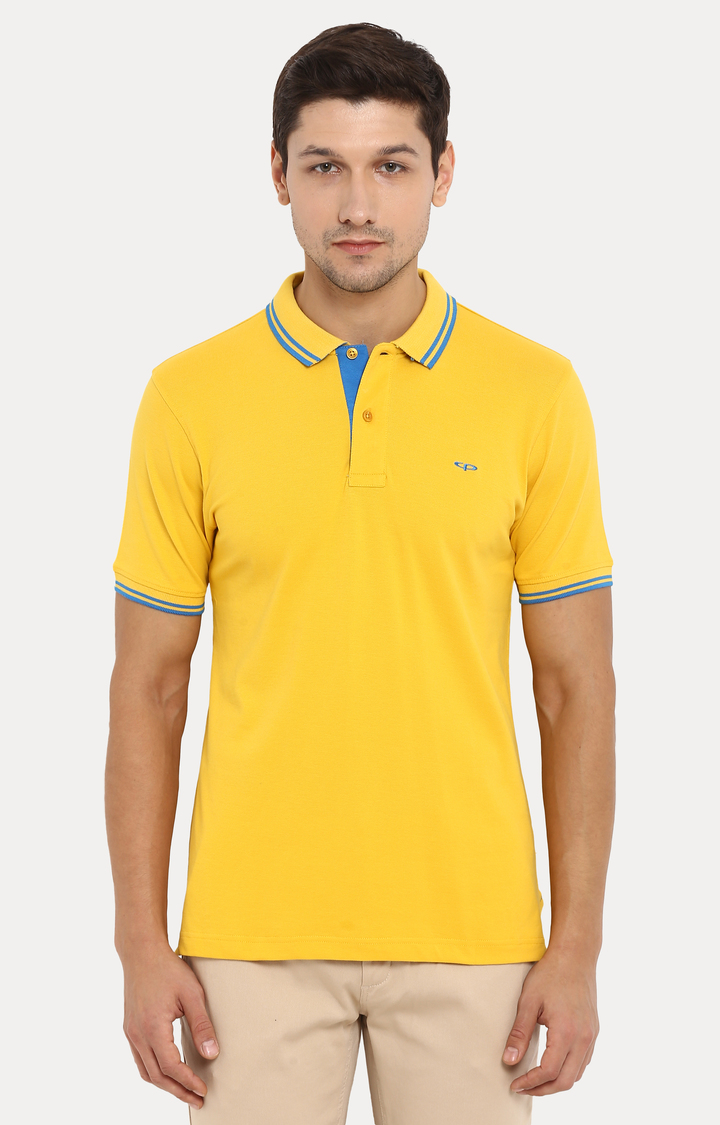 ColorPlus | Yellow Solid Polo T-Shirt