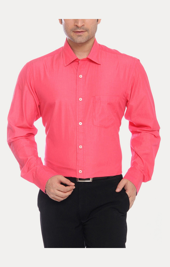 ColorPlus | Red Solid Formal Shirt