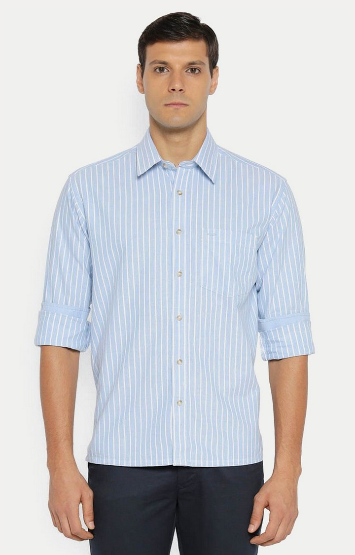 ColorPlus | Blue Striped Casual Shirt