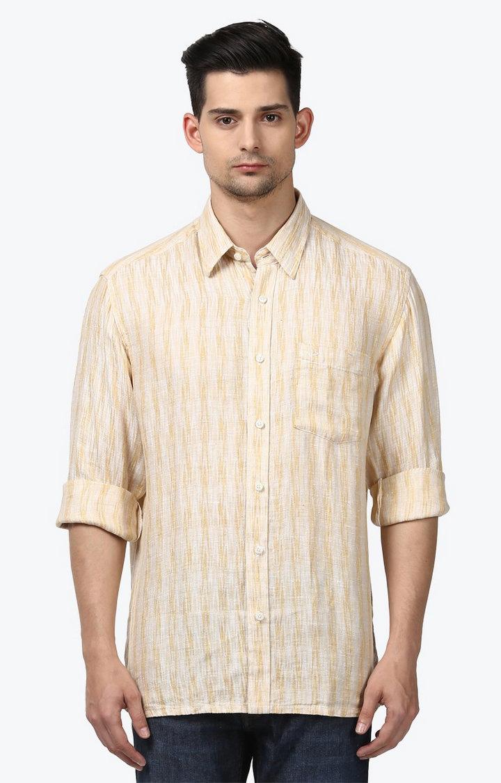 ColorPlus | Medium Fawn Printed Casual Shirt