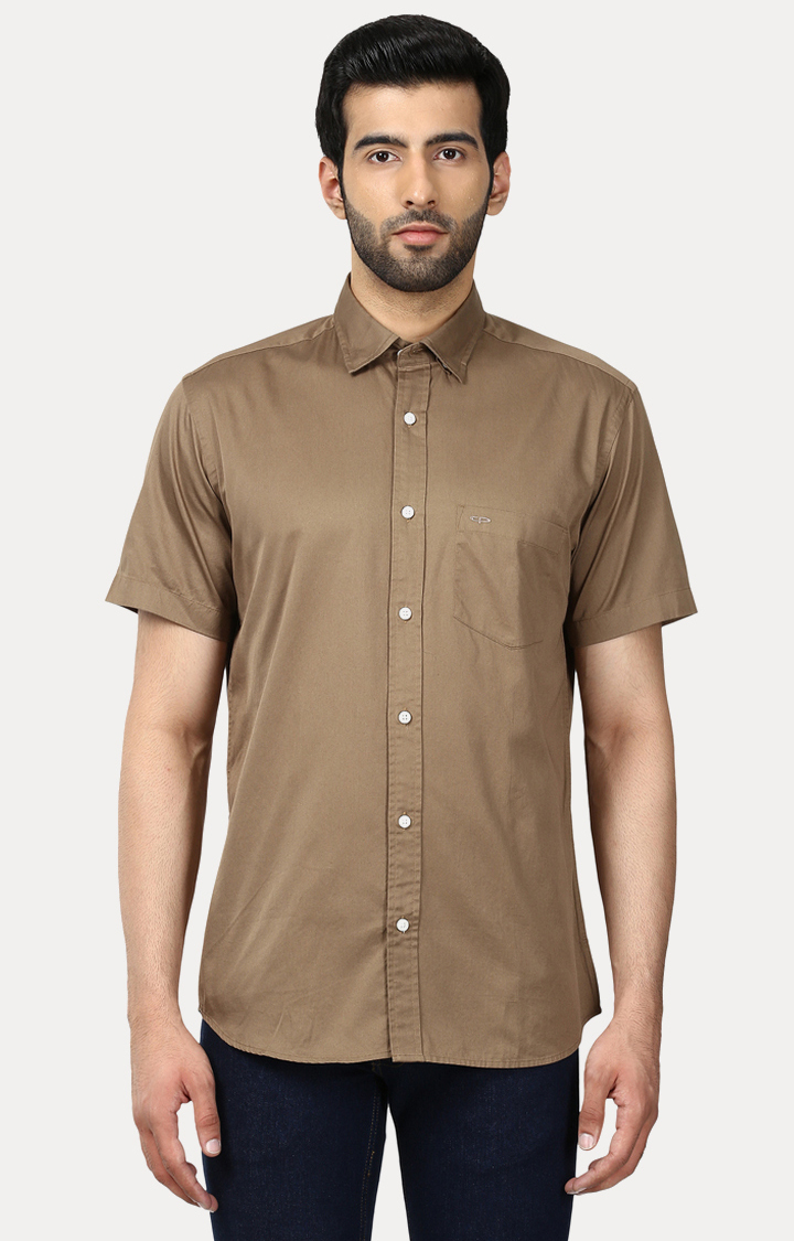 ColorPlus | Brown Solid Casual Shirt