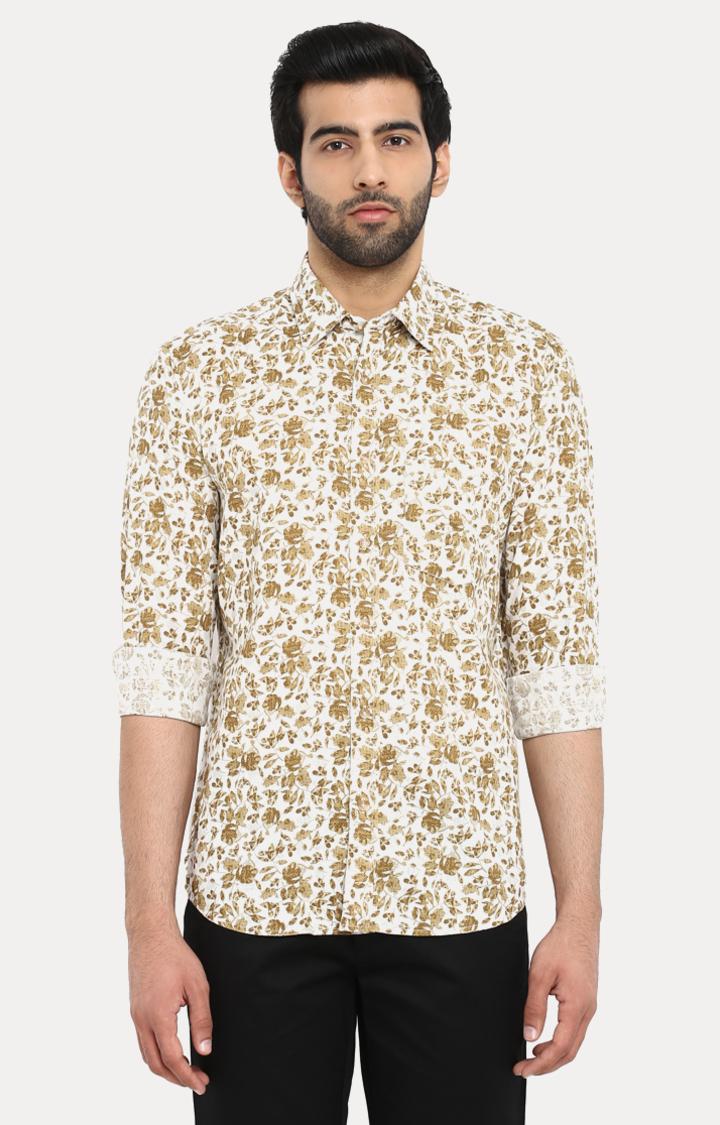 ColorPlus | Brown Printed Casual Shirt