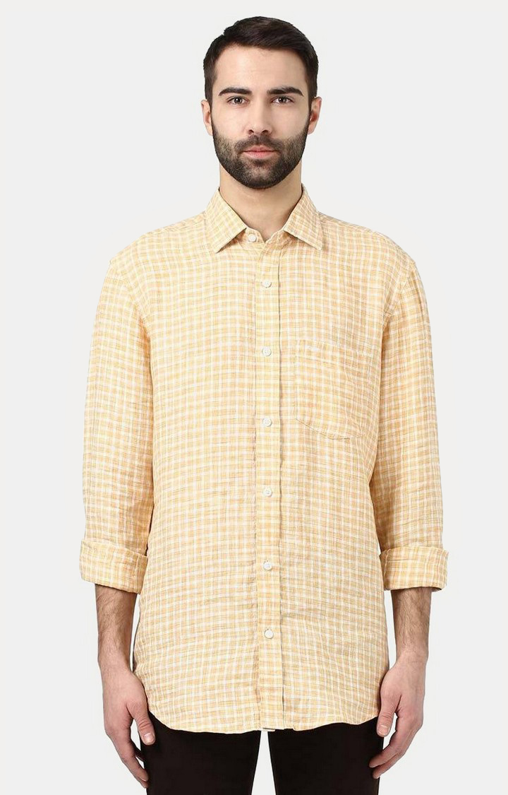 ColorPlus | Fawn Checked Casual Shirt