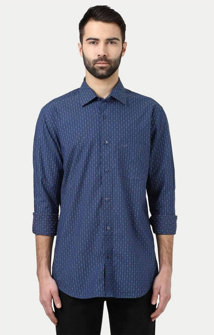 ColorPlus | Navy Printed Casual Shirt