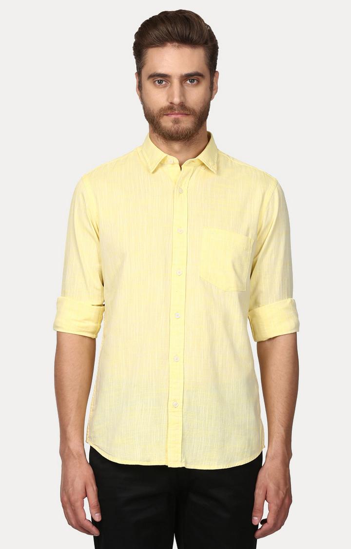 ColorPlus | Yellow Melange Casual Shirt