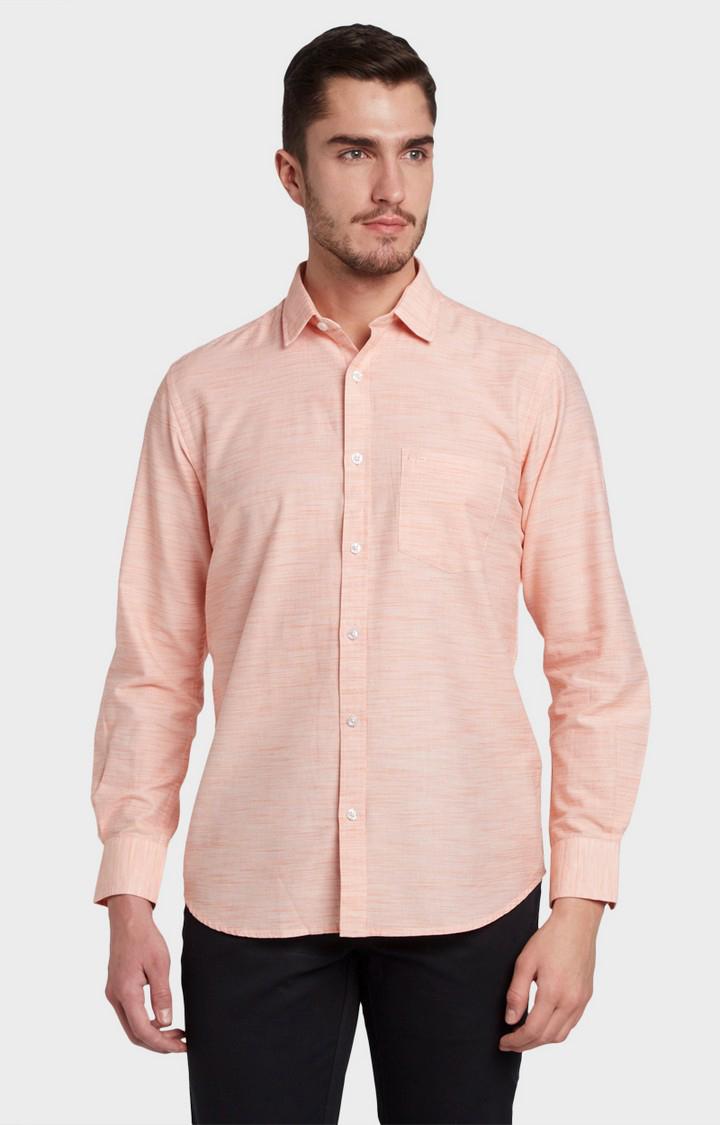 ColorPlus   Orange Melange Casual Shirt