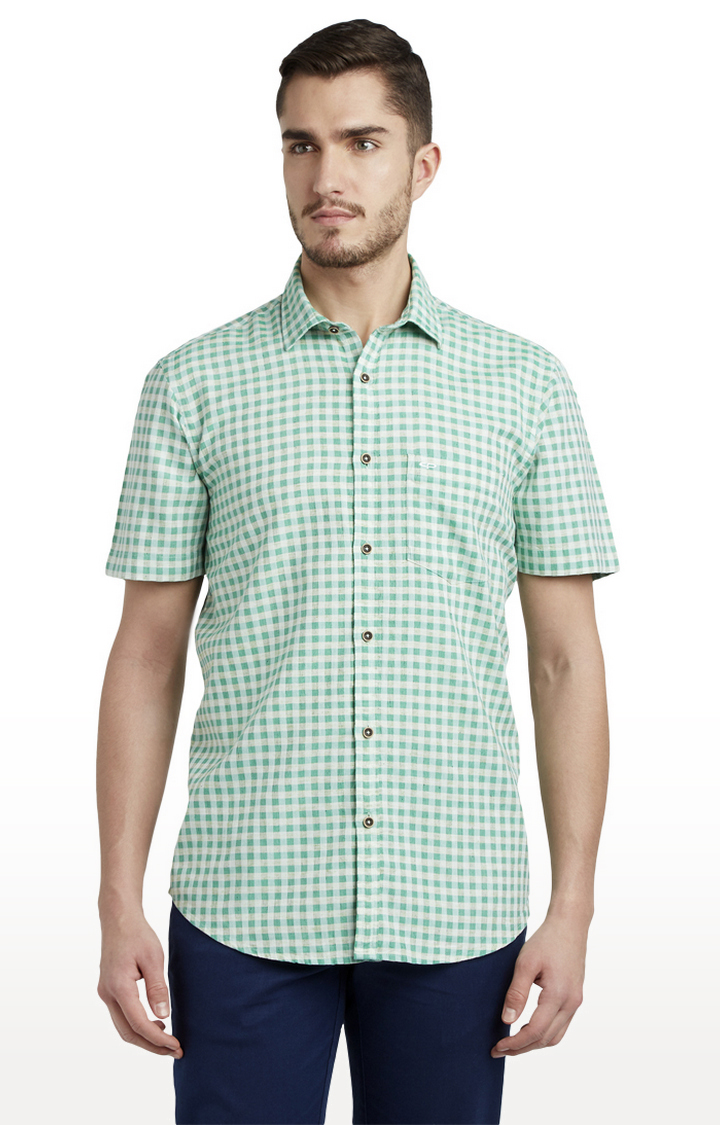 ColorPlus   ColorPlus Medium Green Formal Shirt
