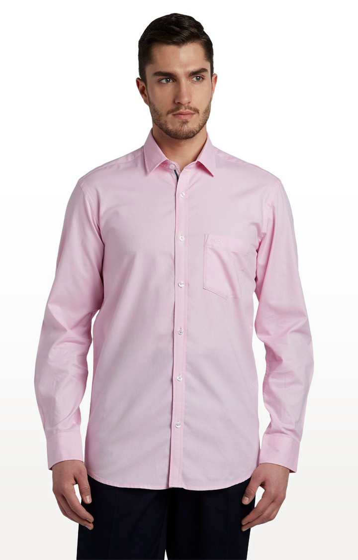 ColorPlus   Pink Solid Formal Shirt