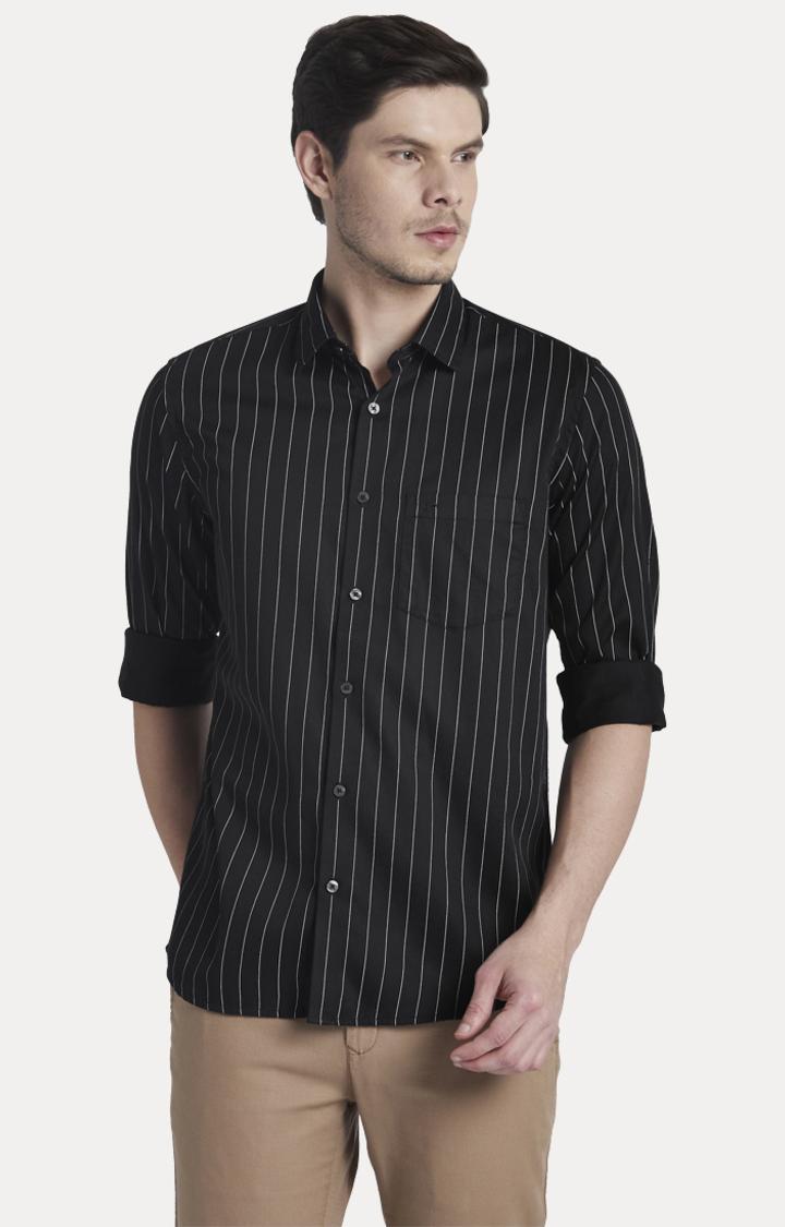ColorPlus | Black Striped Casual Shirt