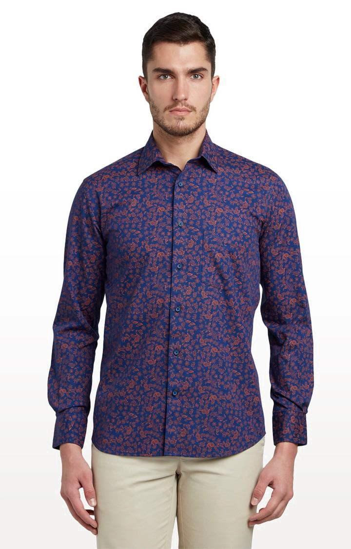 ColorPlus | ColorPlus Dark Blue Formal Shirt