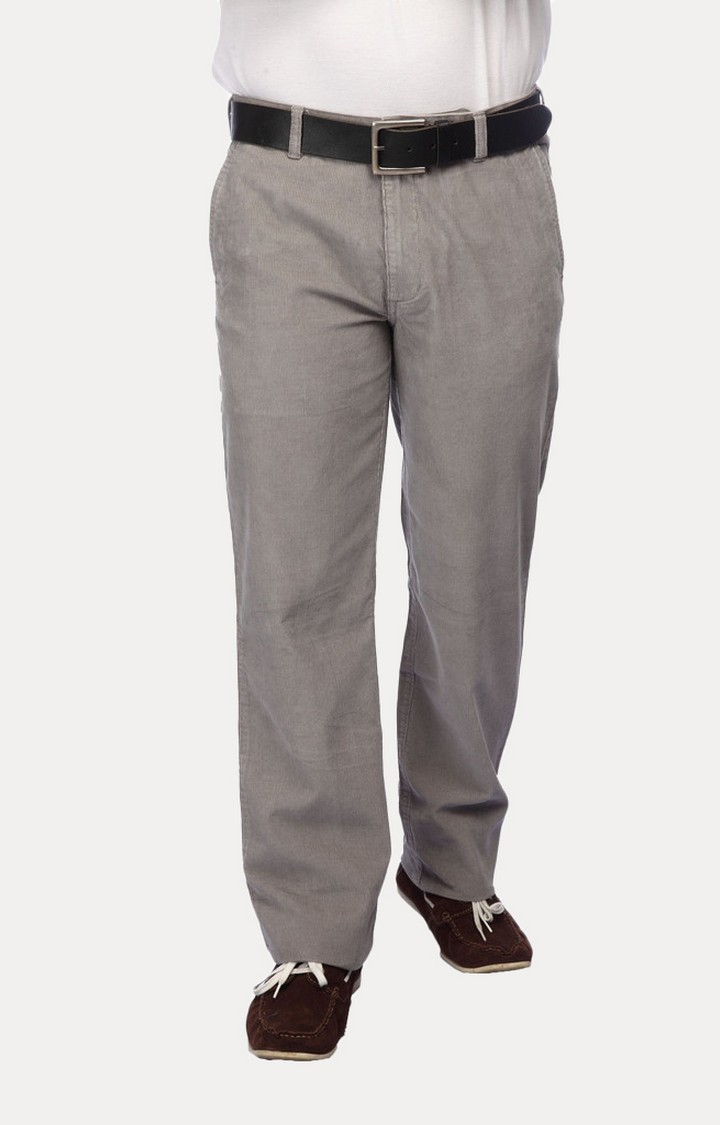 ColorPlus | Grey Straight Formal Trousers
