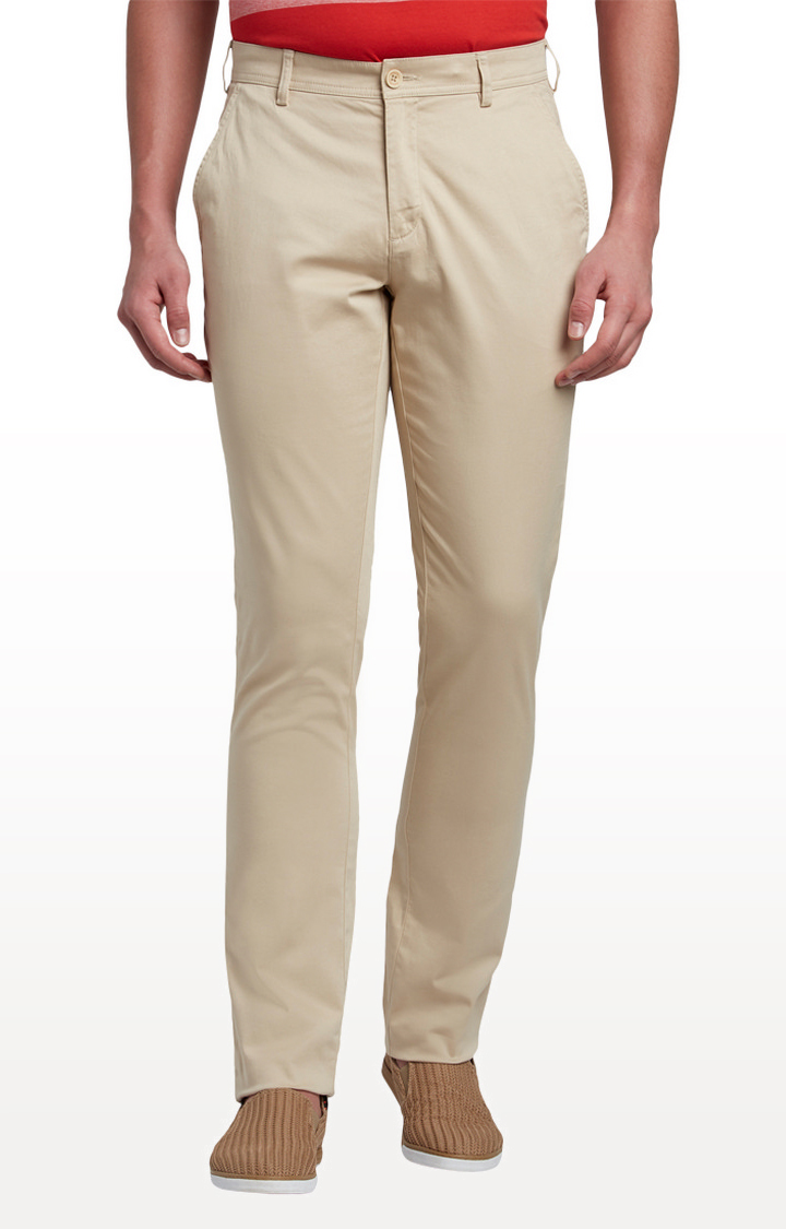 ColorPlus   Beige Contemporary Fit Straight Chinos