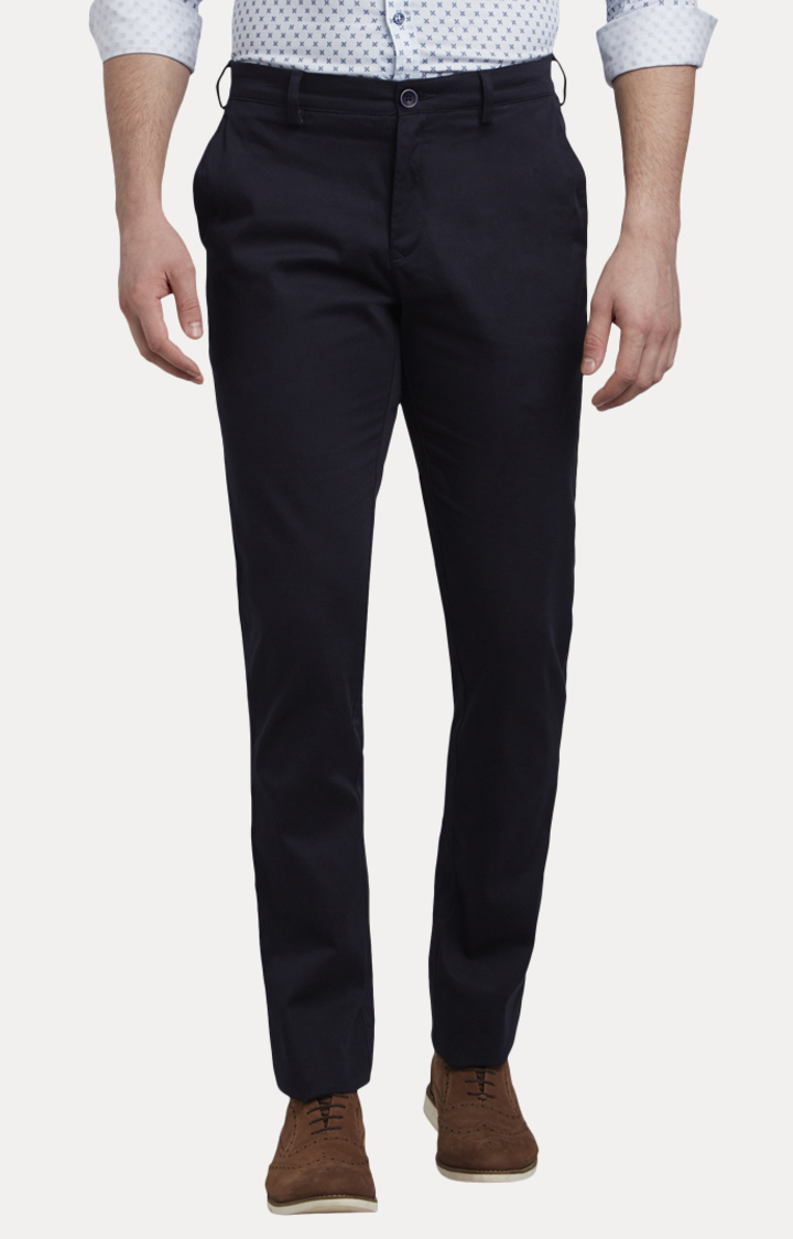 Navy Flat Front Formal Trousers