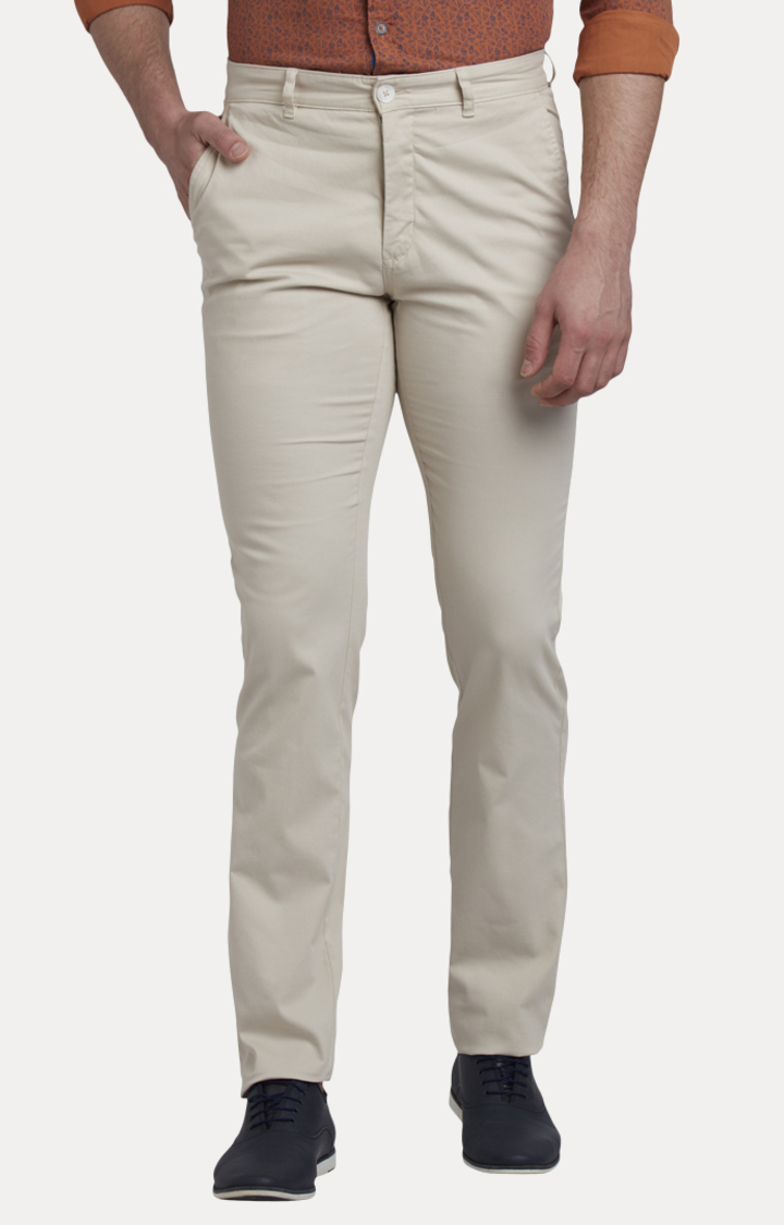 Fawn Flat Front Formal Trousers