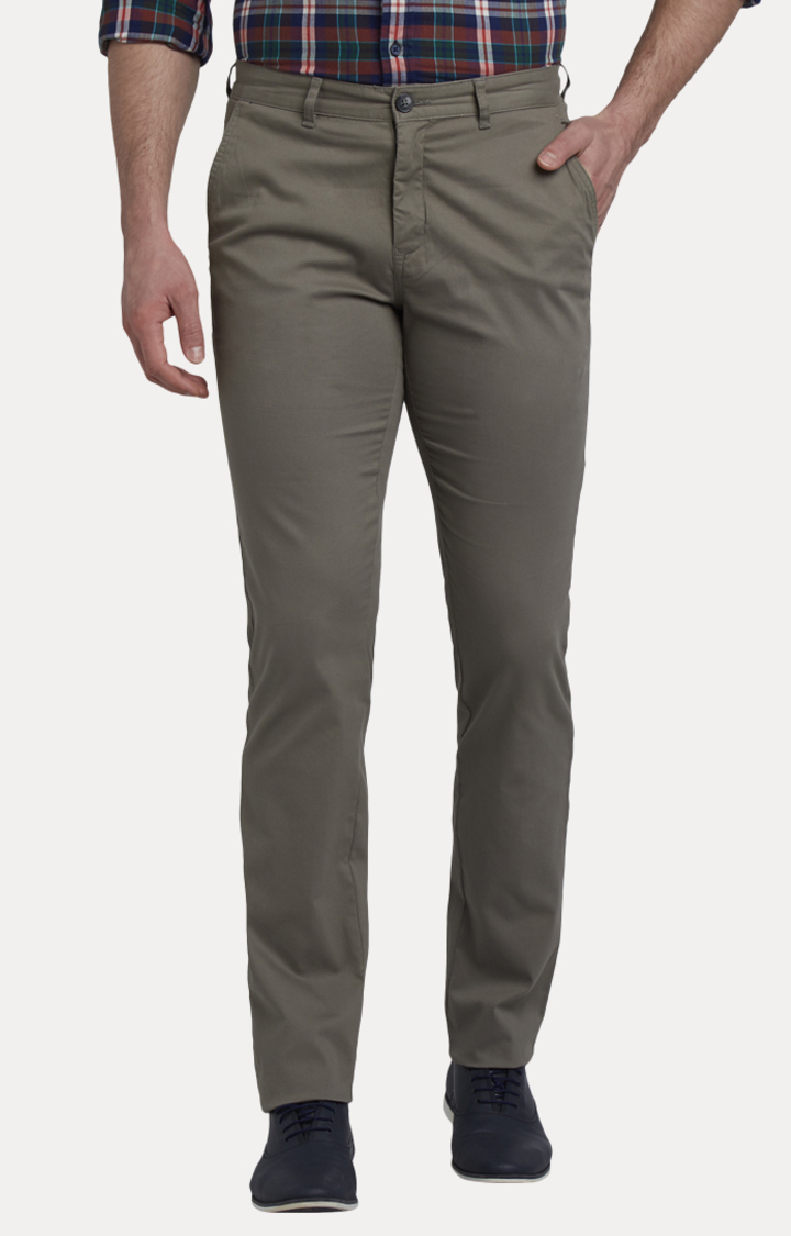 ColorPlus | Grey Flat Front Formal Trousers