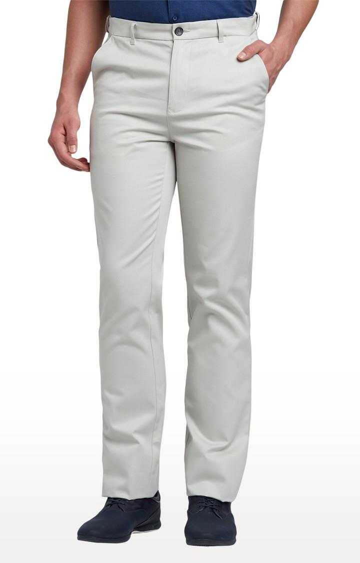ColorPlus   Medium Grey Flat Front Formal Trousers