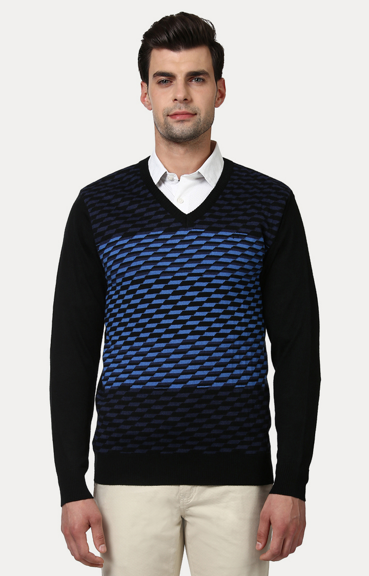ColorPlus | Blue Checked Sweater