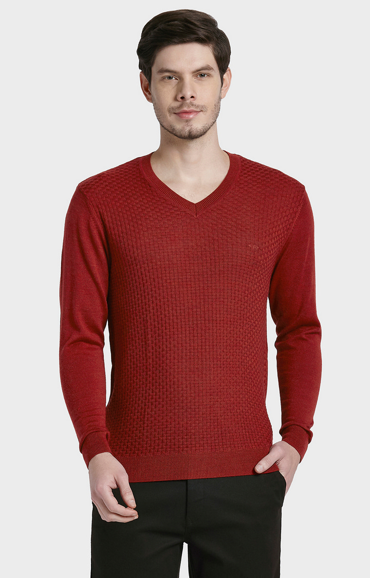 ColorPlus | Red Solid Sweater