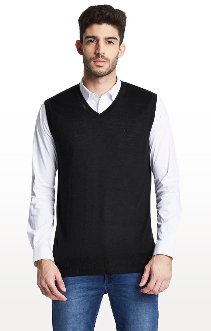 ColorPlus | Black Solid Sweater