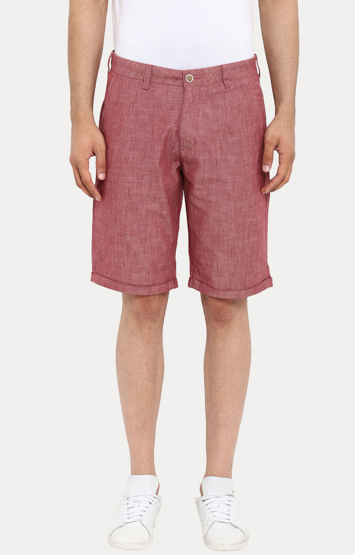 ColorPlus | Red Melange Shorts