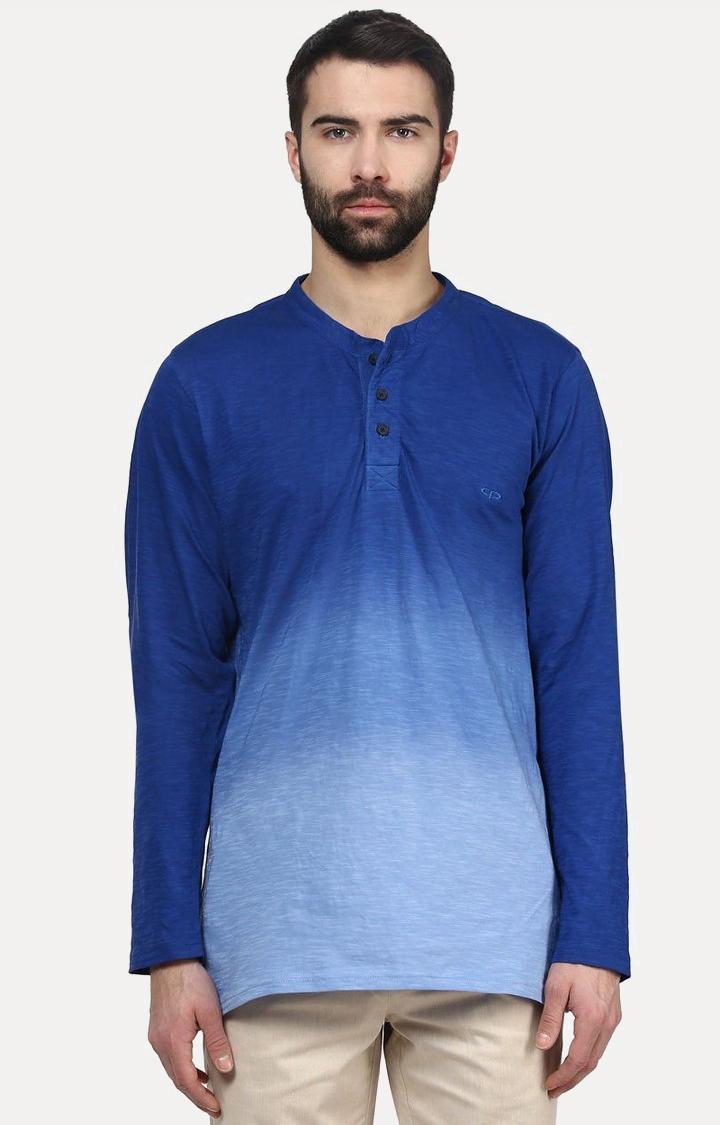 ColorPlus | Blue Solid T-Shirt