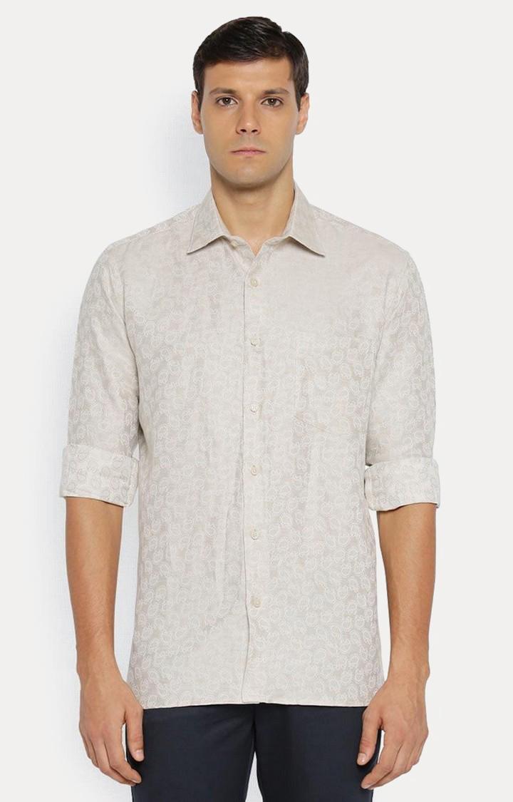ColorPlus   Beige Printed Casual Shirt