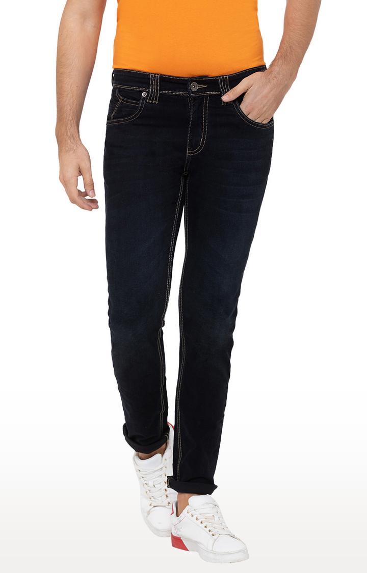 globus | Black Solid Tapered Jeans