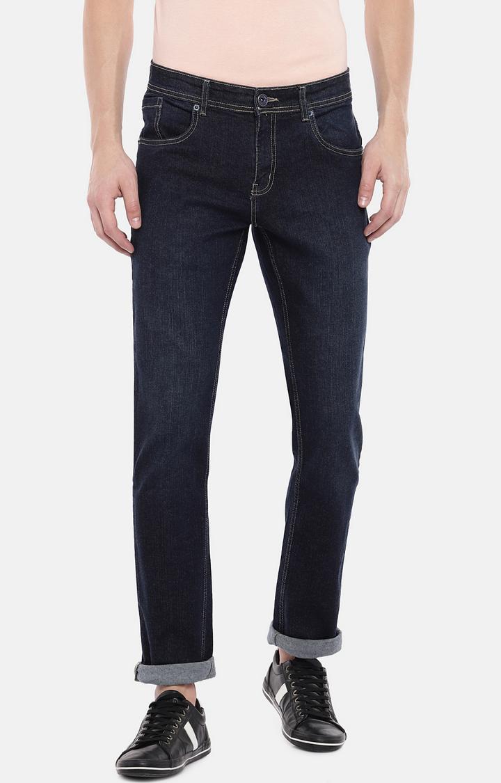 globus   Blue Mid Rise Slim Fit Jeans