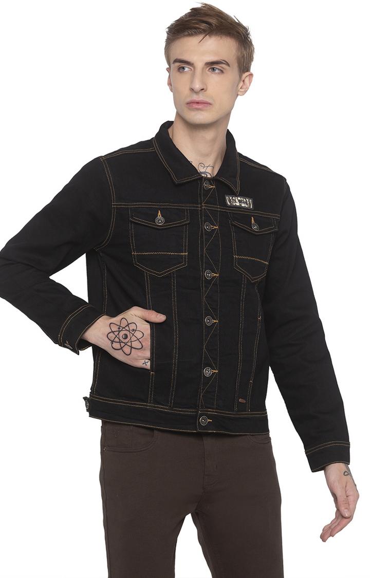 globus | Black Solid Denim Jacket