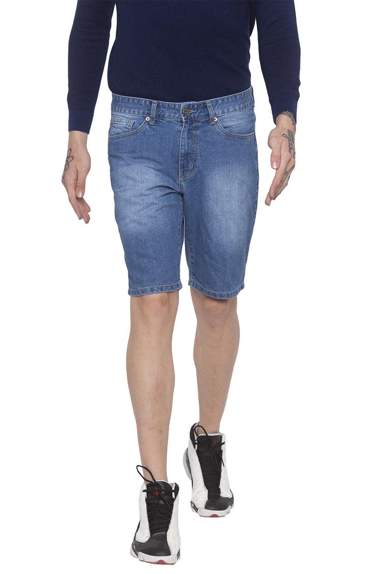 globus   Blue Solid Shorts