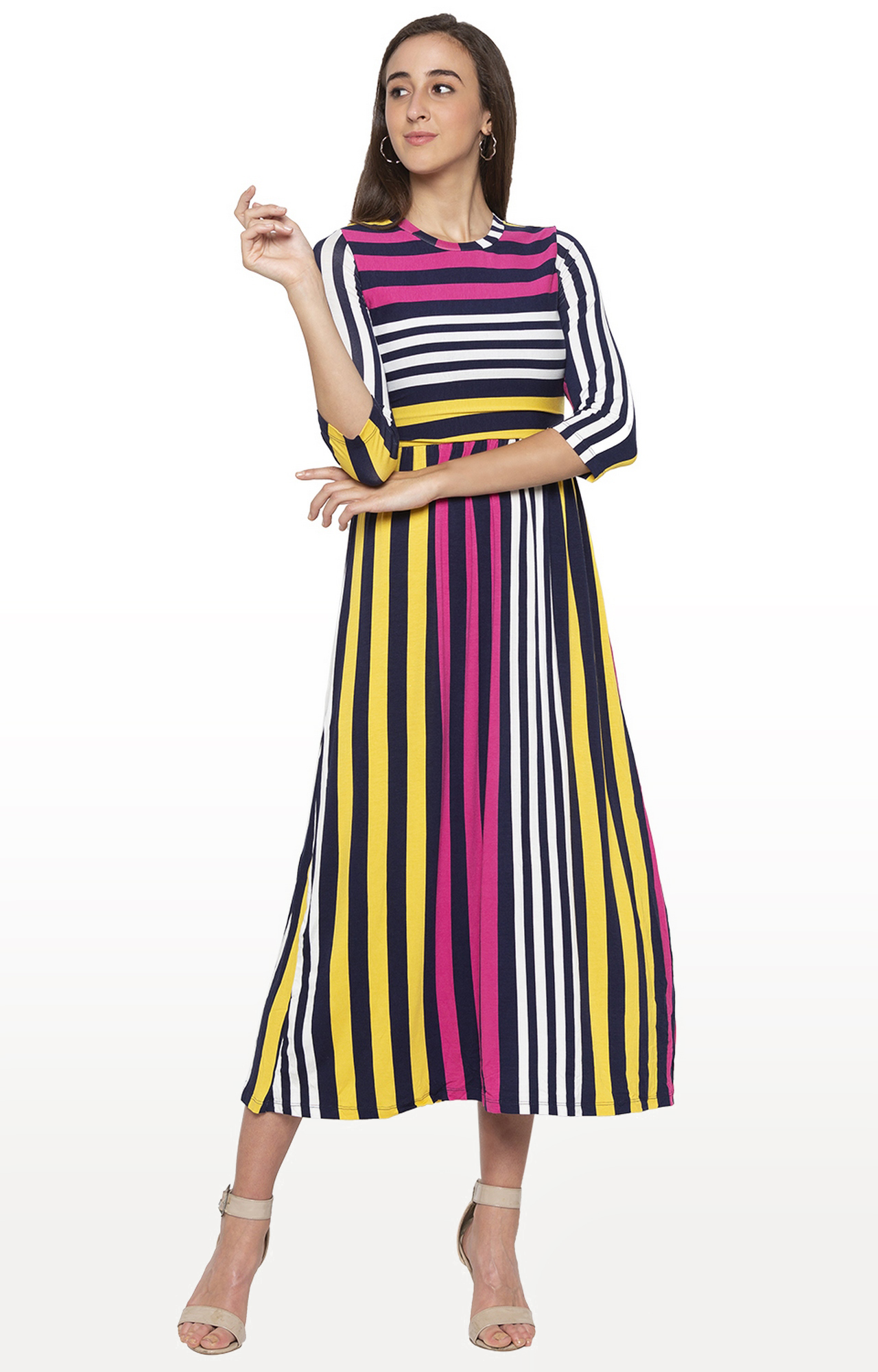 globus | Multicoloured Striped Maxi Dress