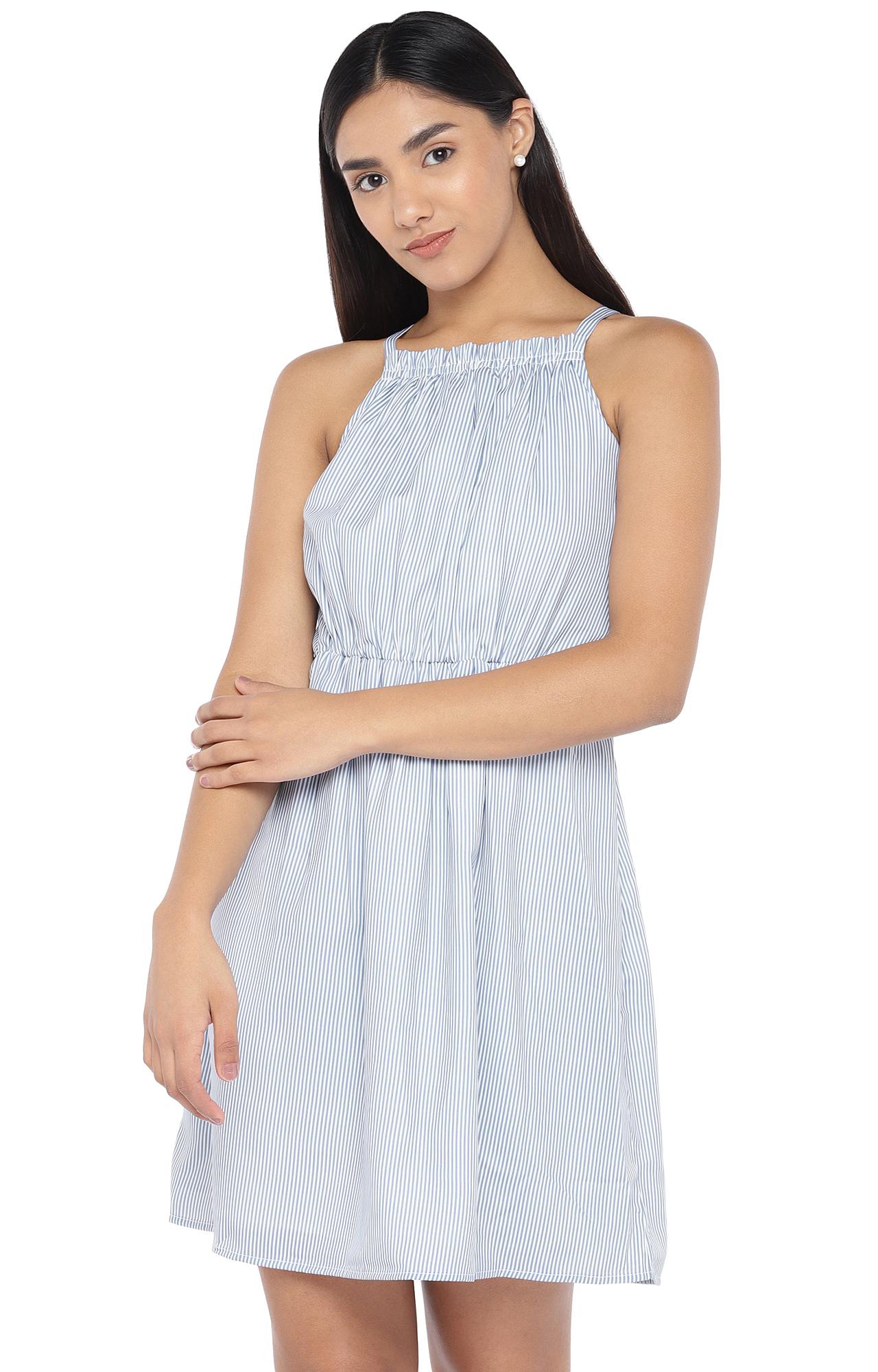 globus | Blue Striped Skater Dress