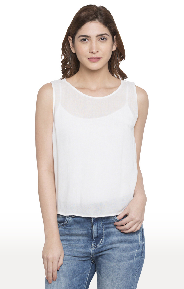 globus | White Solid Top