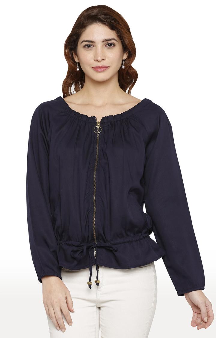 globus | Blue Solid Jacket