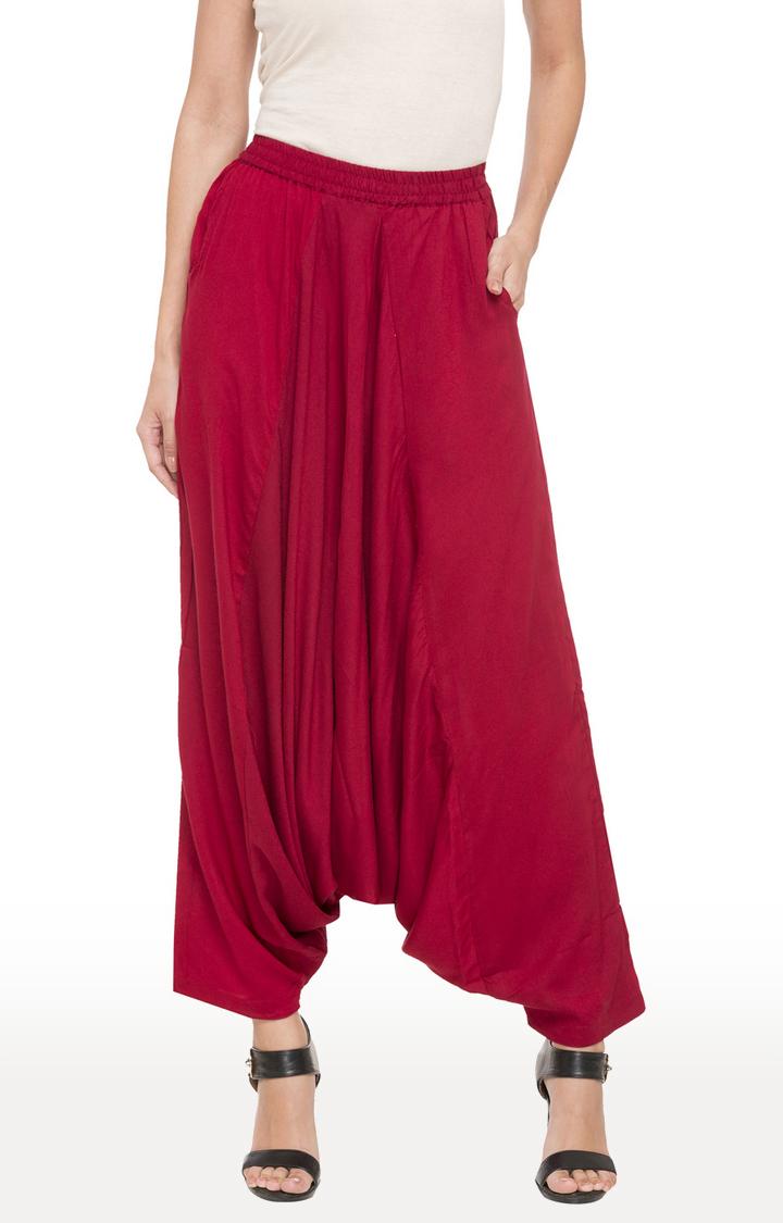 globus | Red Solid Harem Pants