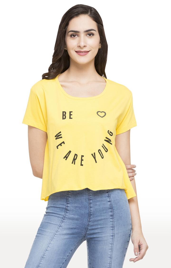 globus   Yellow Printed T-Shirt