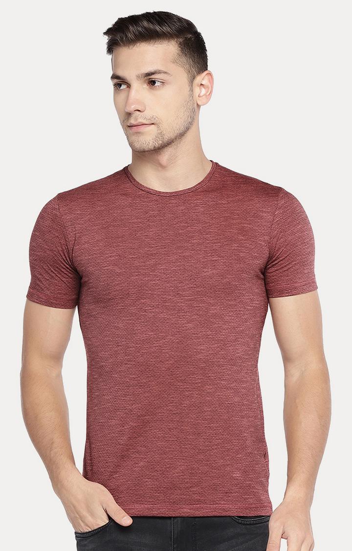 globus | Maroon Melange T-Shirt