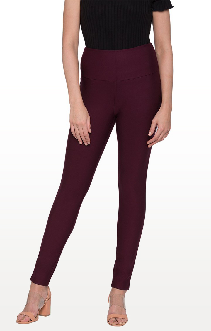 globus   Red Solid Jeggings