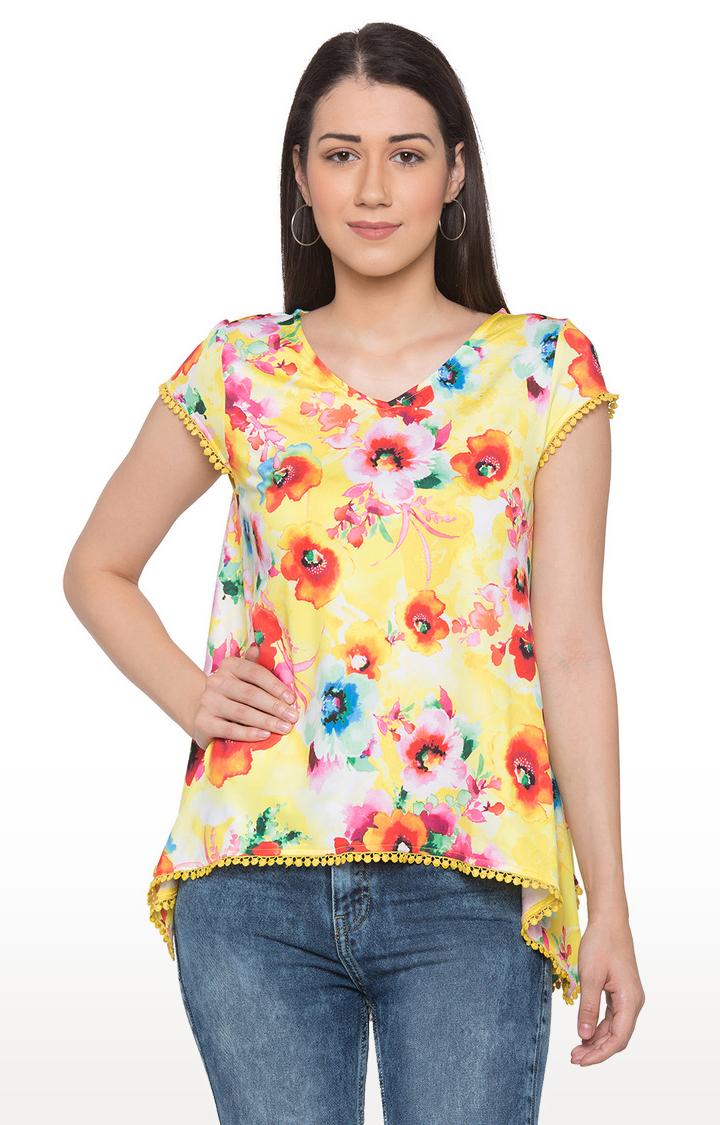 globus | Yellow Floral Top